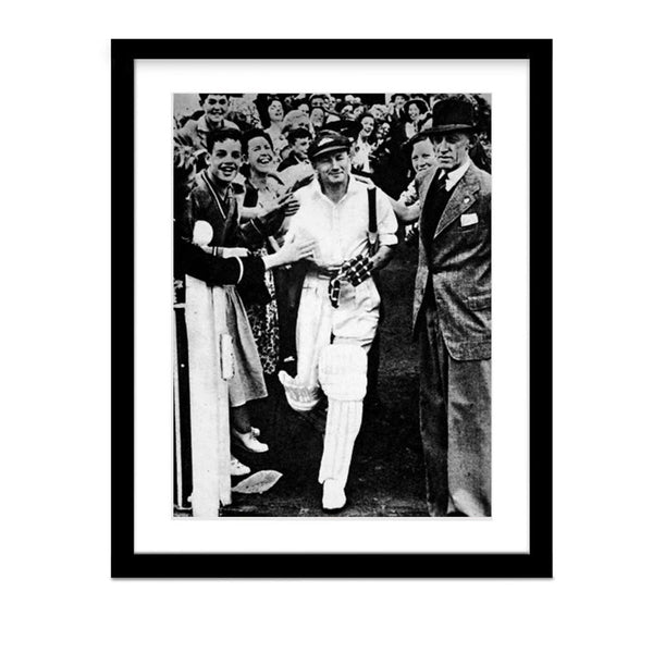 Don Bradman Cricket Legend Framed Vintage Photo