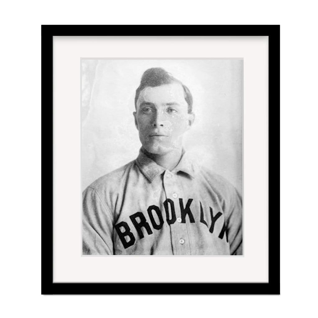 Elmer Sticklett Vintage Framed Brooklyn Superbas Photo