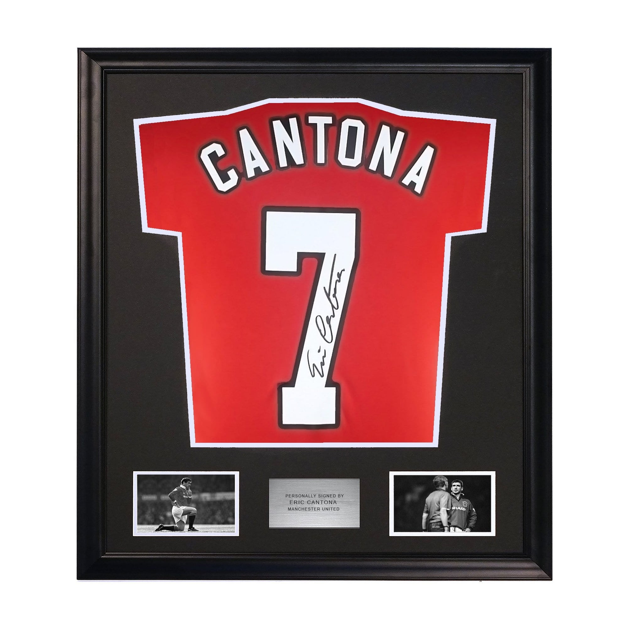 Eric Canton Manchester United Framed Signed Jersey