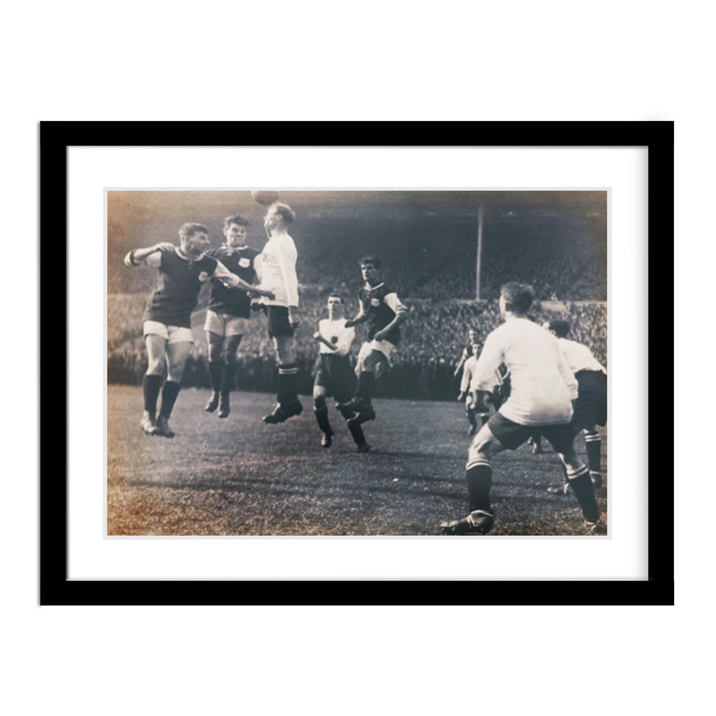 Vintage FA Cup Soccer Match Framed Photo