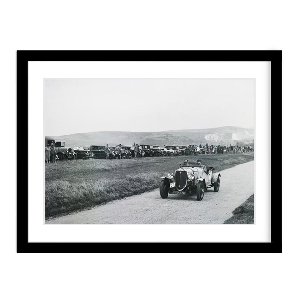 Classic Car Ford V8 Motosport Racing Vintage Photo