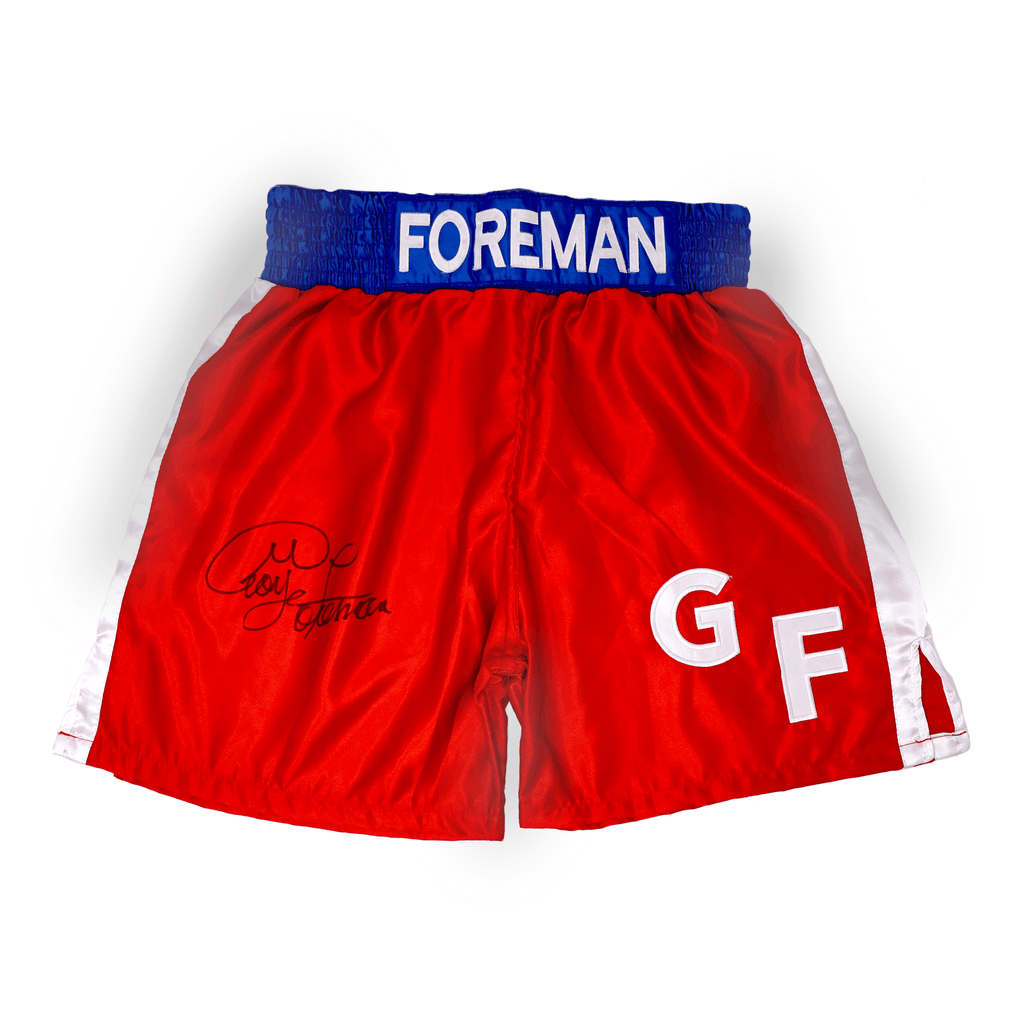 George Foreman Signed Boxing Shorts
