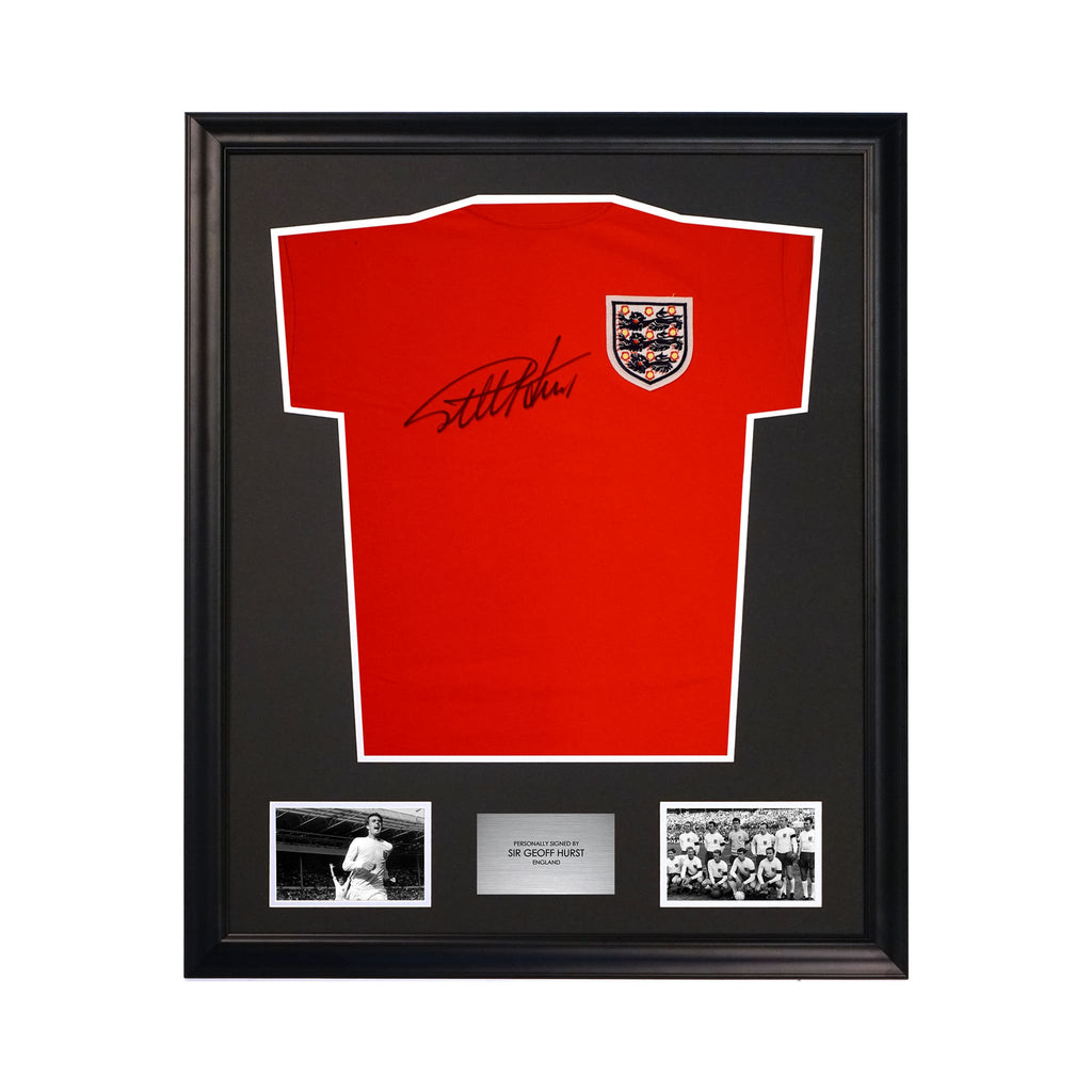 Sir Geoff Hurst Classic England Signed Soccer Jersey 1966