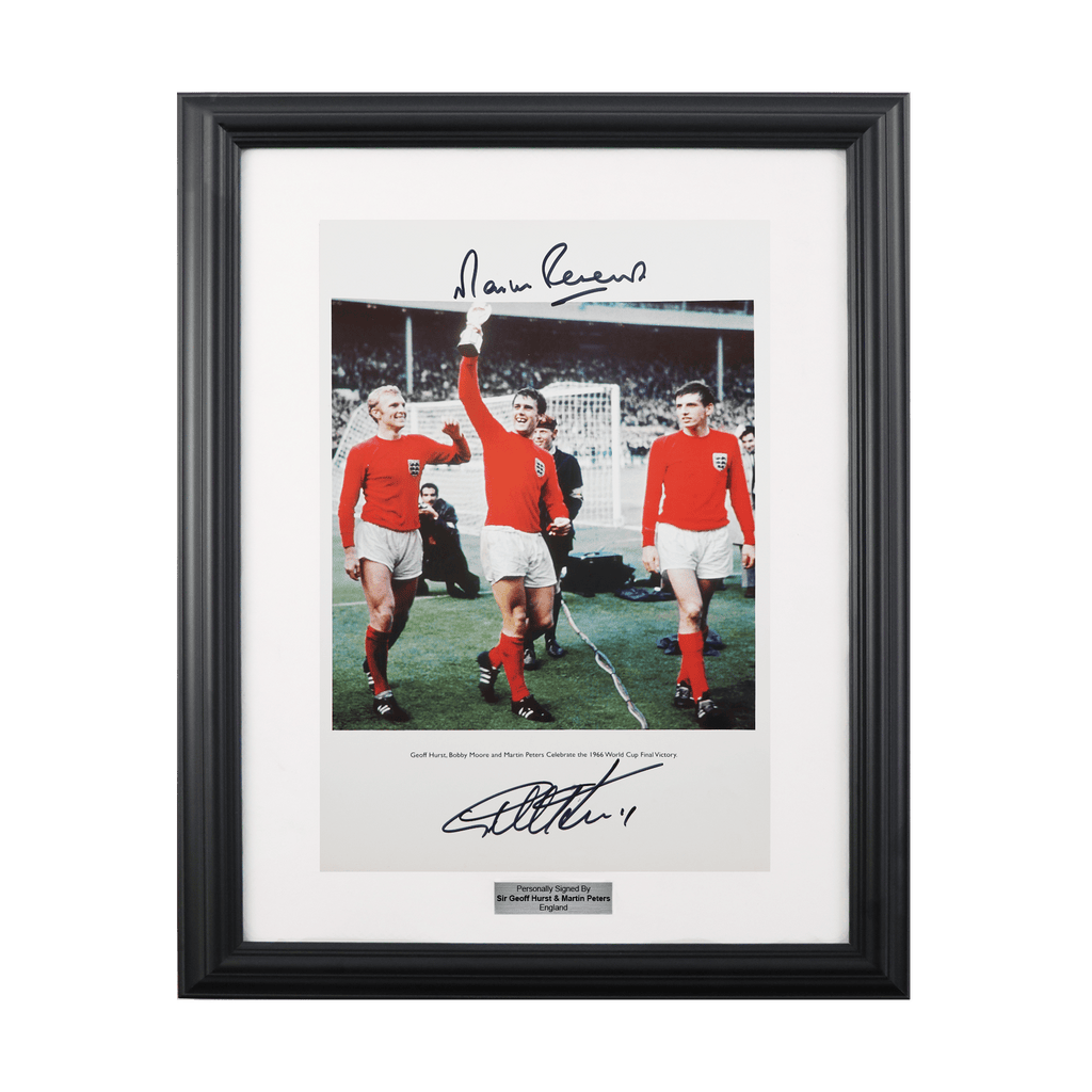 Sir Geoff Hurst & Martin Peters signed England photo