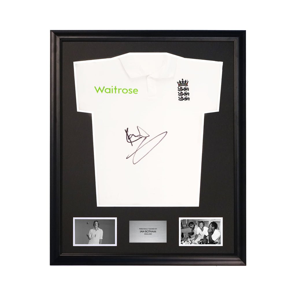 England Cricket Shirt Signed by Ian Botham