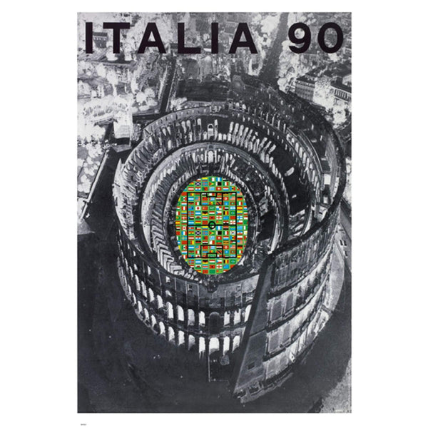 Italy World Cup 1990 Vintage Poster