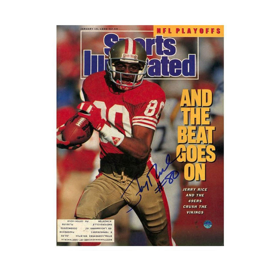 Jerry Rice Signed Sports Illustrated Magazine