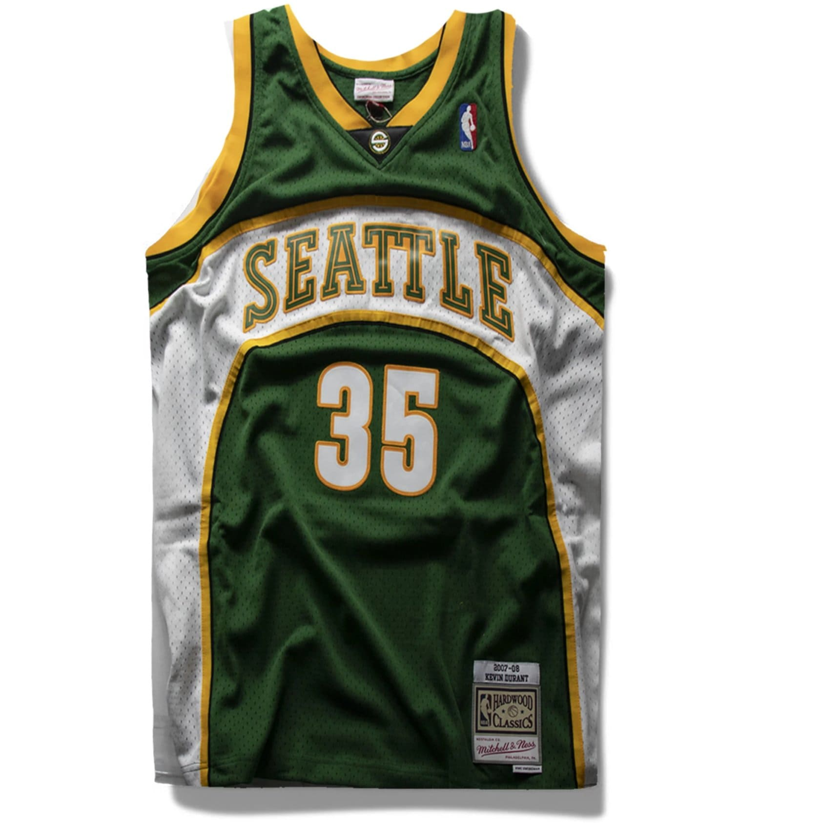 Kevin Durant Seattle Supersonics Hardwood Classics Jersey
