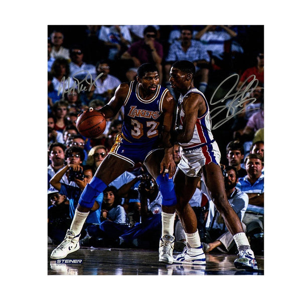 Magic Johnson vs Denis Rodman Signed Photograph