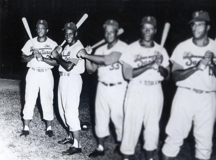 Willie Mays and Roberto Clemente Santurce Cangrejeros