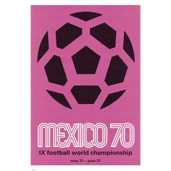 Mexico 1970 World Cup Vintage Poster