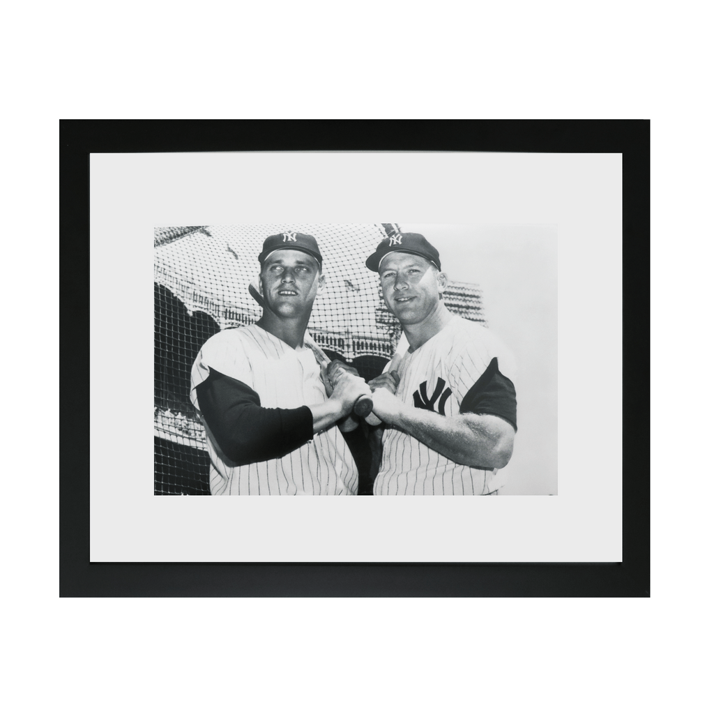 Mickey Mantle and Roger Maris Vintage Posed