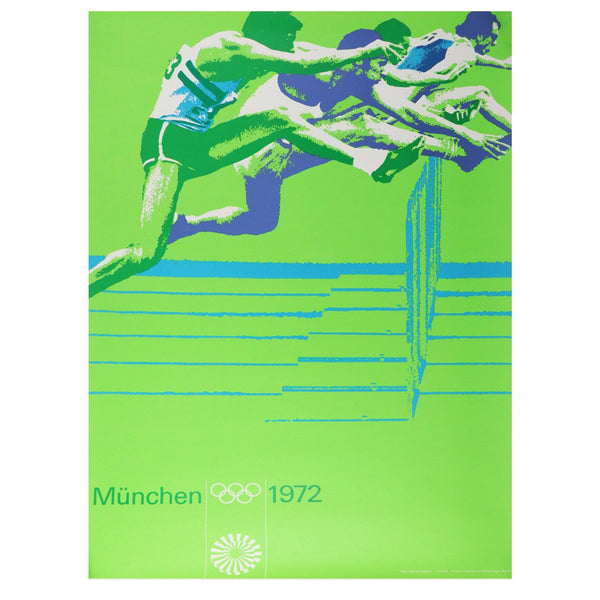 Vintage 1972 Munich Olympic Track Poster