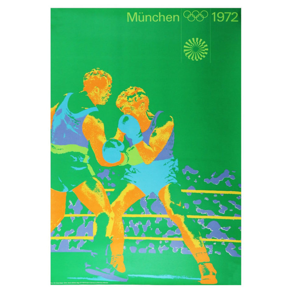 Munich Olympic Antique Boxing Poster
