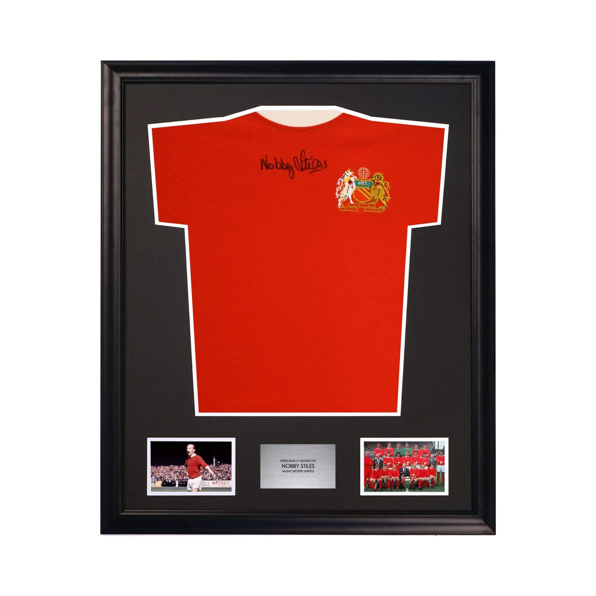 Manchester United Nobby Stiles Signed Memorabilia Jersey