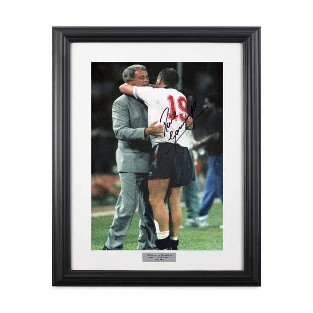 Paul Gascoigne Vintage Signed Photograph