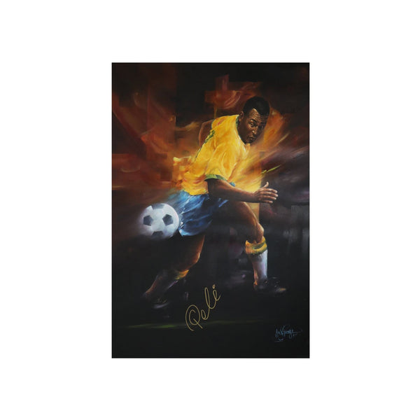 Pele Giclee Artwork Signed Oil Canvas