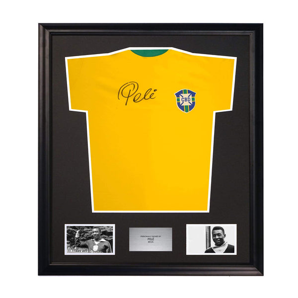 Pele Classic Brazil Retro Best Player Shirt Signed Memorabilia