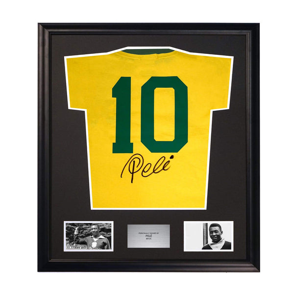 Pele Number 10 Signed Jersey Framed