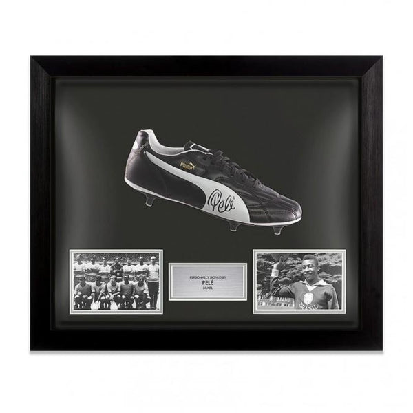Framed And Signed Pele Brazil Puma Boot - Signed Memorabilia