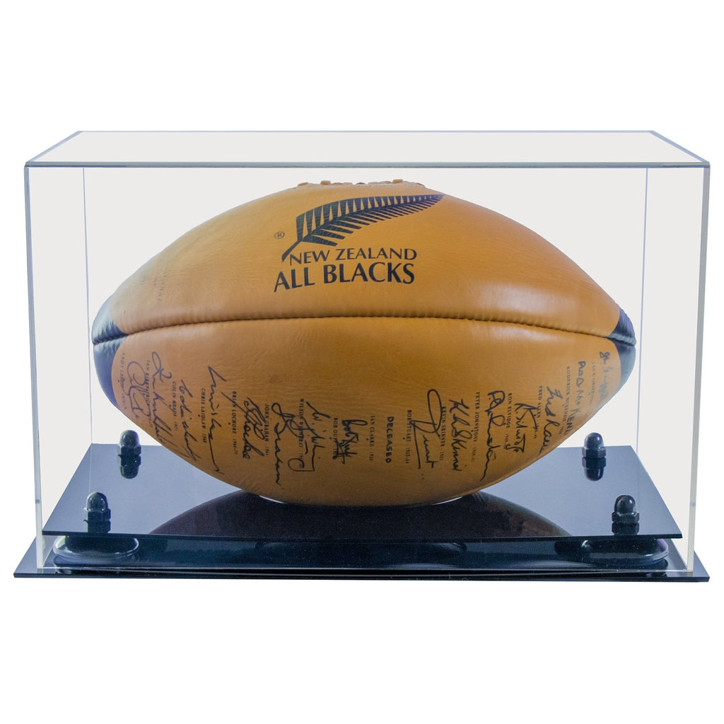 Vintage Rugby Ball Display Case