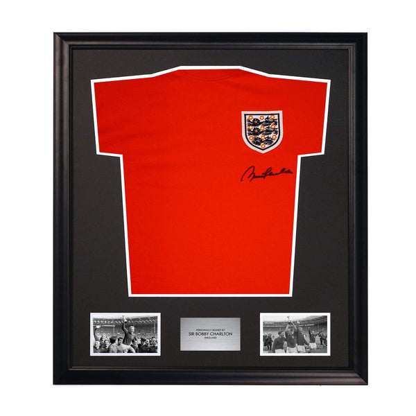Sir Bobby Charlton England World Cup Signed Authentic Soccer Jersey 1966