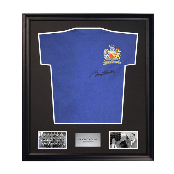 Sir Bobby Charlton Signed Manchester United 1968 European Cup Shirt