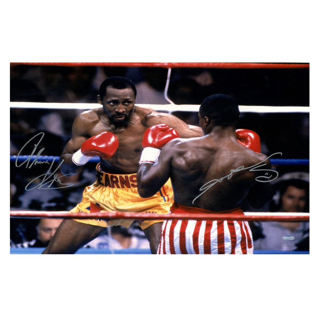 Thomas Hearns vs Sugar Ray Leonard Signed Photograph