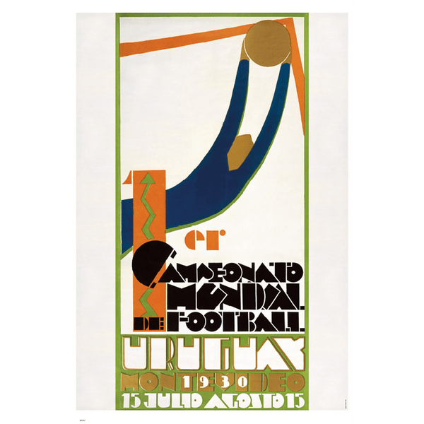 Vintage Uruguay First World Cup Poster