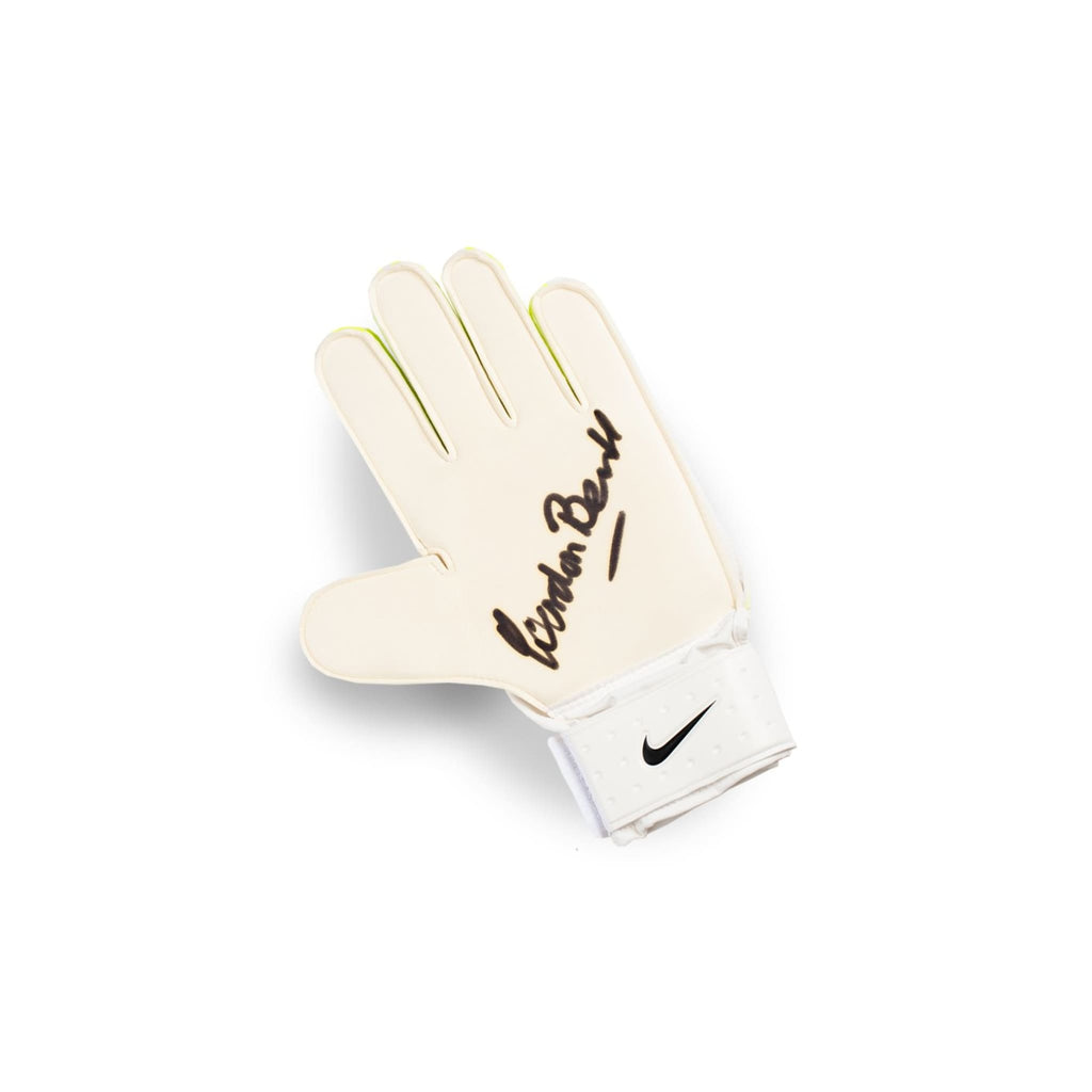 Gordon Banks Signed Goalkeeper Glove - Nike Yellow - Signed Memorabilia