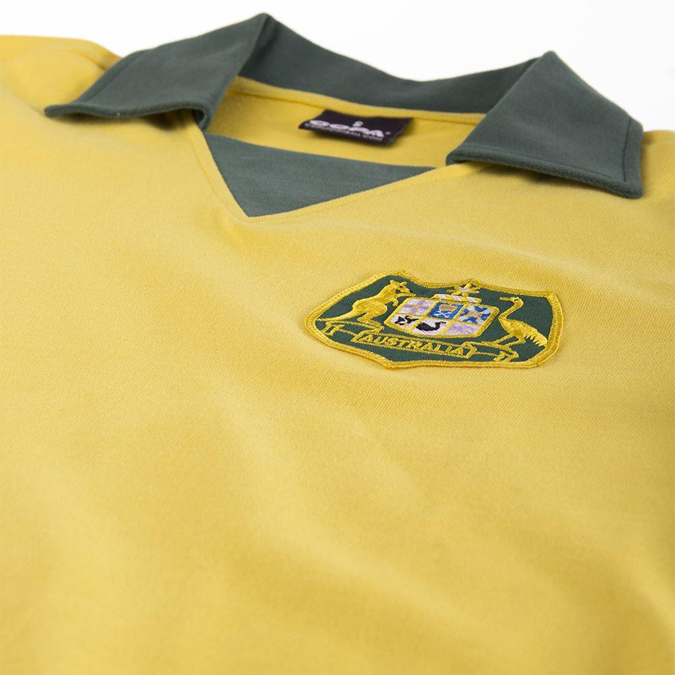 Close up of 1974 Australia Fifa World Cup Soccer Jersey