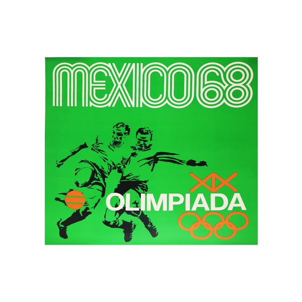 Vintage Mexico City Olympics Soccer Poster