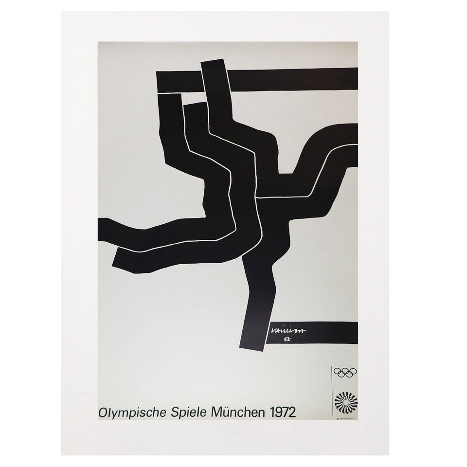 Vintage 1972  Munich Olympics Poster