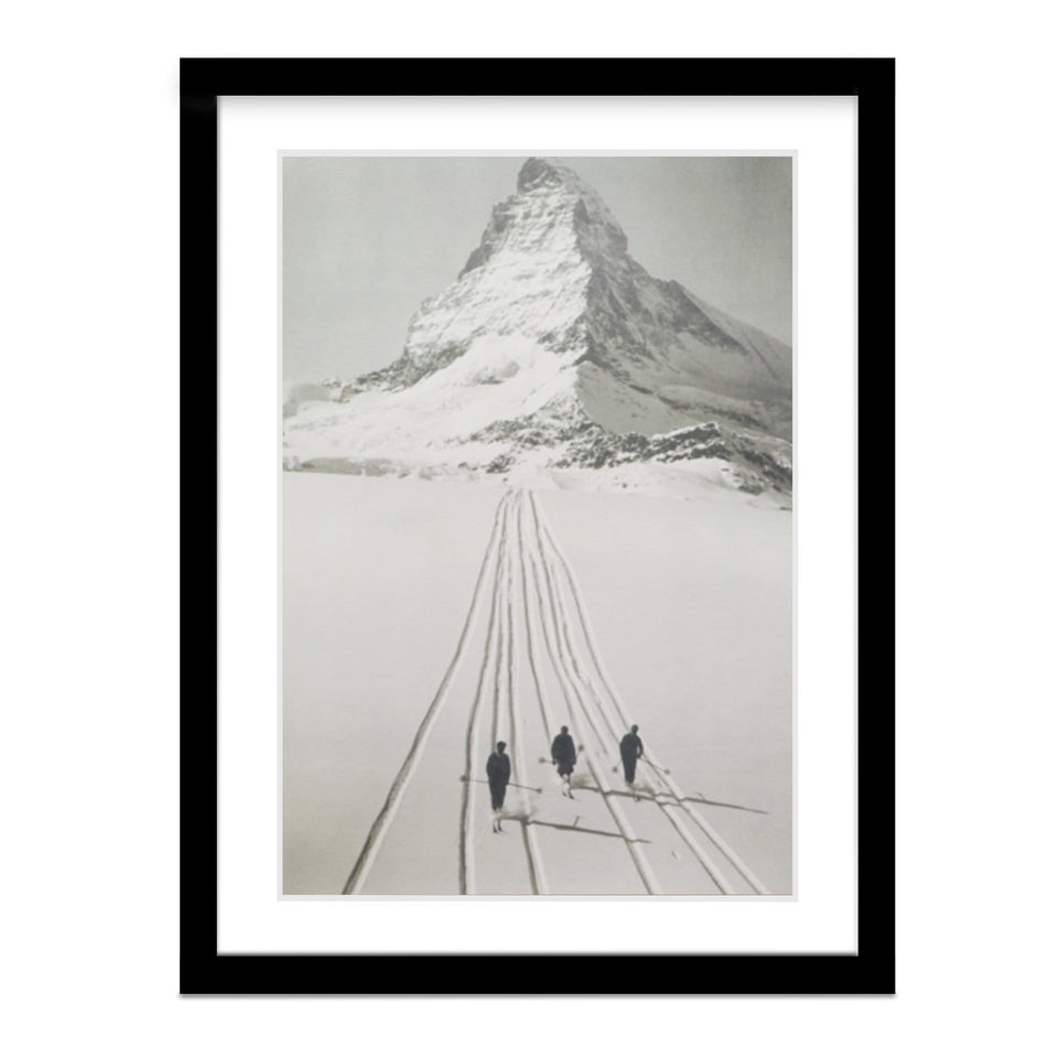 Skiing at the Matterhorn Framed Print