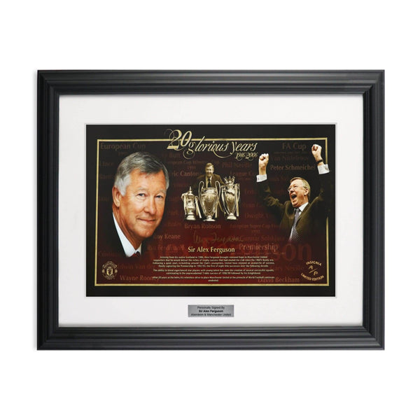 Sir Alex Ferguson Signed Limited Edition Soccer Artist Proofs