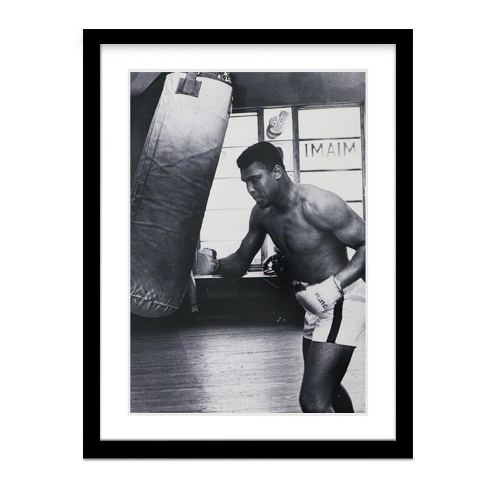 Muhammad Ali (Cassius Clay) Training on Boxing Bag Vintage Photo