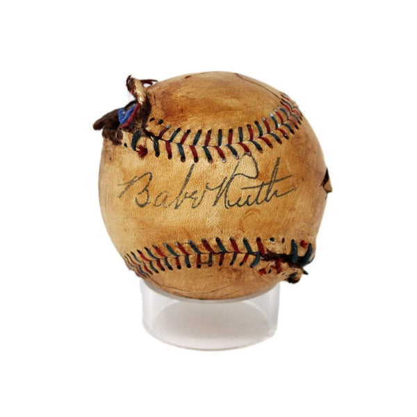 Vintage Babe Ruth Replica Signed Baseball from 'The Sandlot' With Display Case