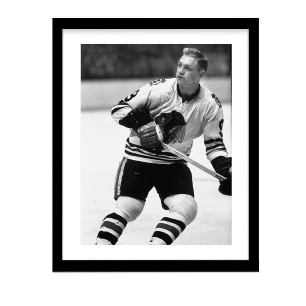 Bobby Hull Hockey Blackhawks Legend Photo Framed Vintage Hockey