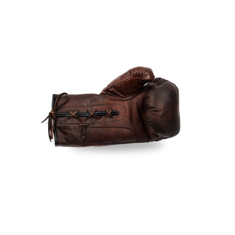 Boxing Gloves Lace Up- Brown Leather - Equipment