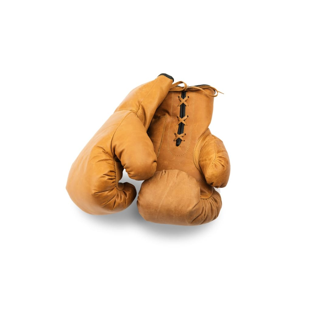 Boxing Gloves Lace Up - Tan Leather - Equipment