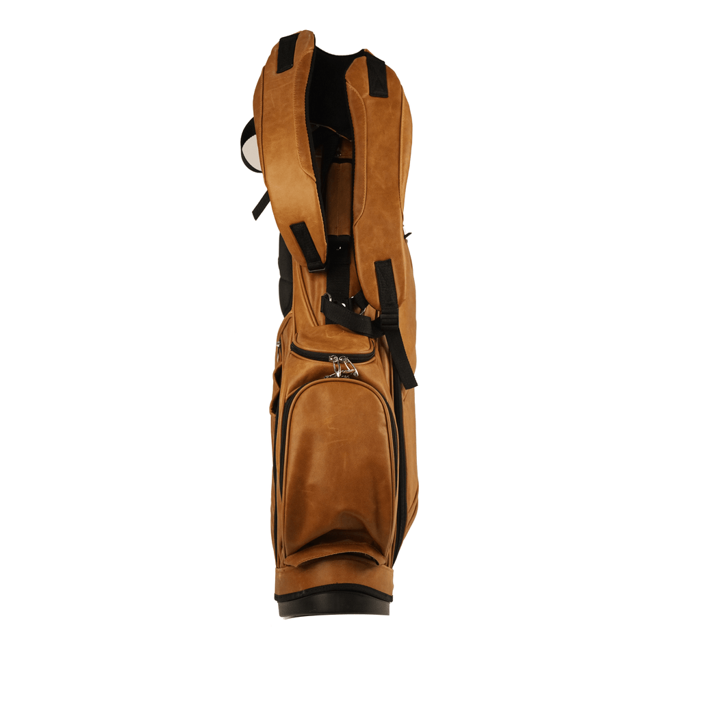 Handmade Leather Golf Bag with Stand