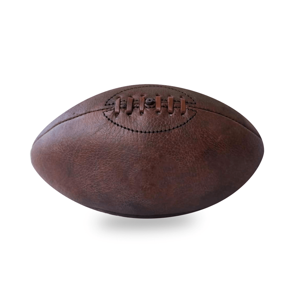 Vintage Leather Aussie Rules Ball