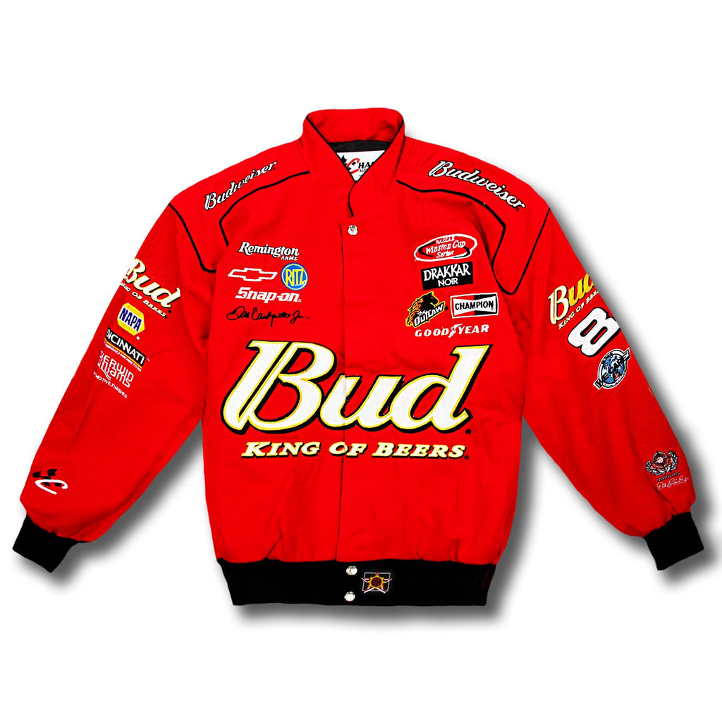 Vintage NASCAR Dale Earnhardt Jr 8 Budweiser Race Jacket - New