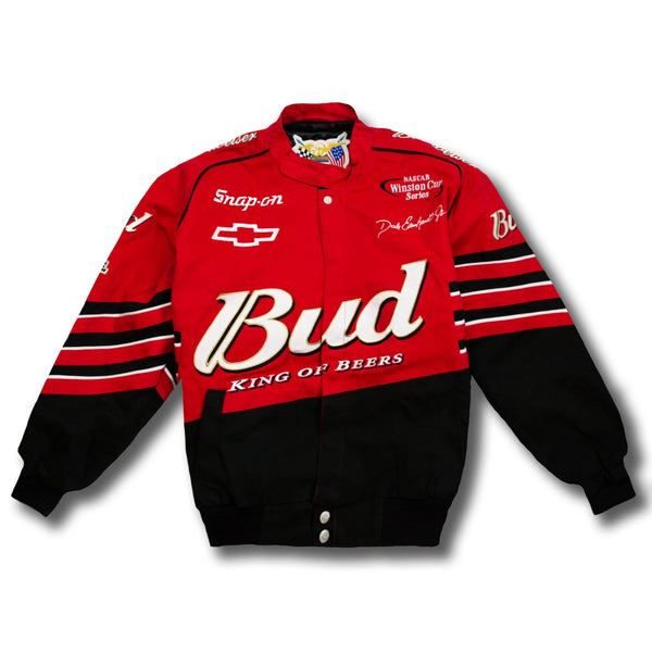 Vintage Dale Earnhardt Jr NASCAR Budweiser Racing Jacket New