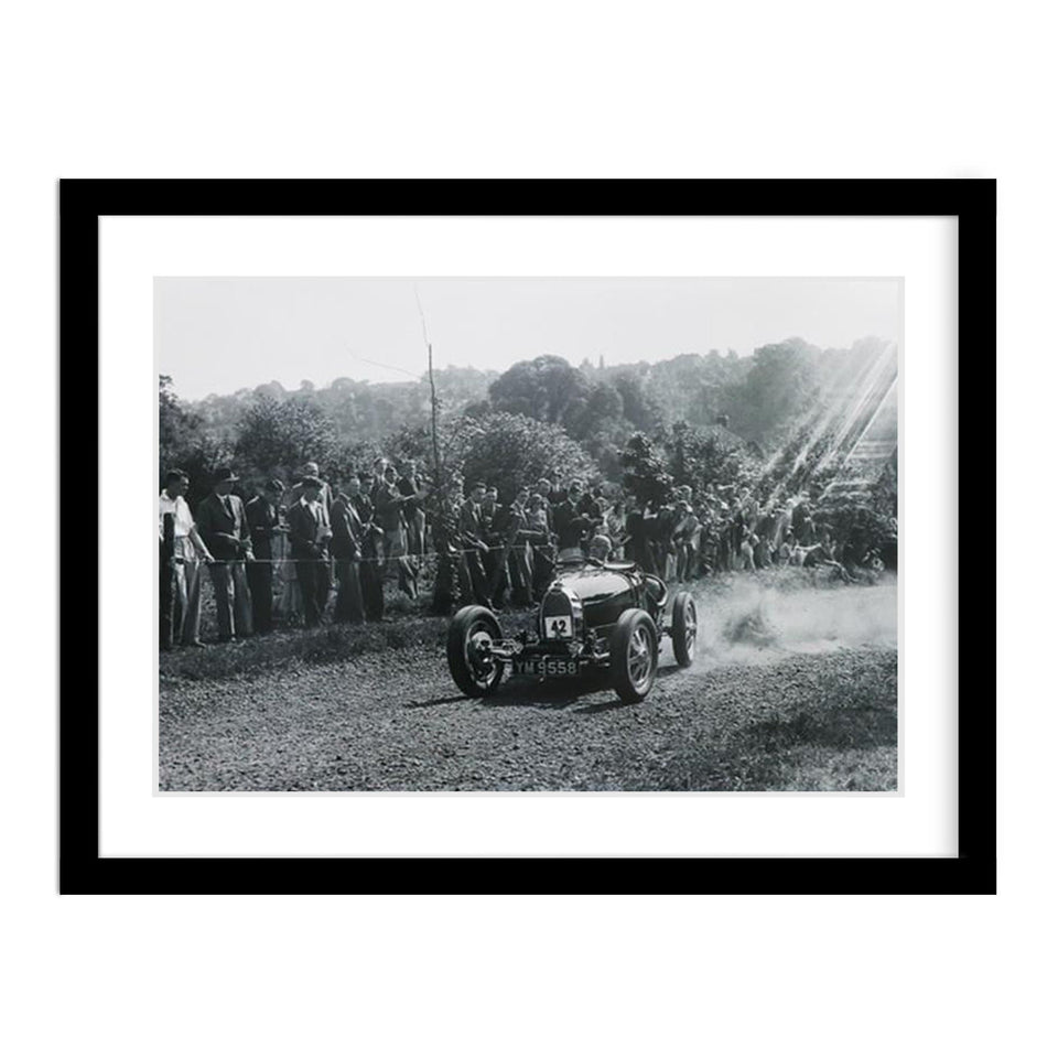 Classic Car Bugatti Vintage Photo Framed