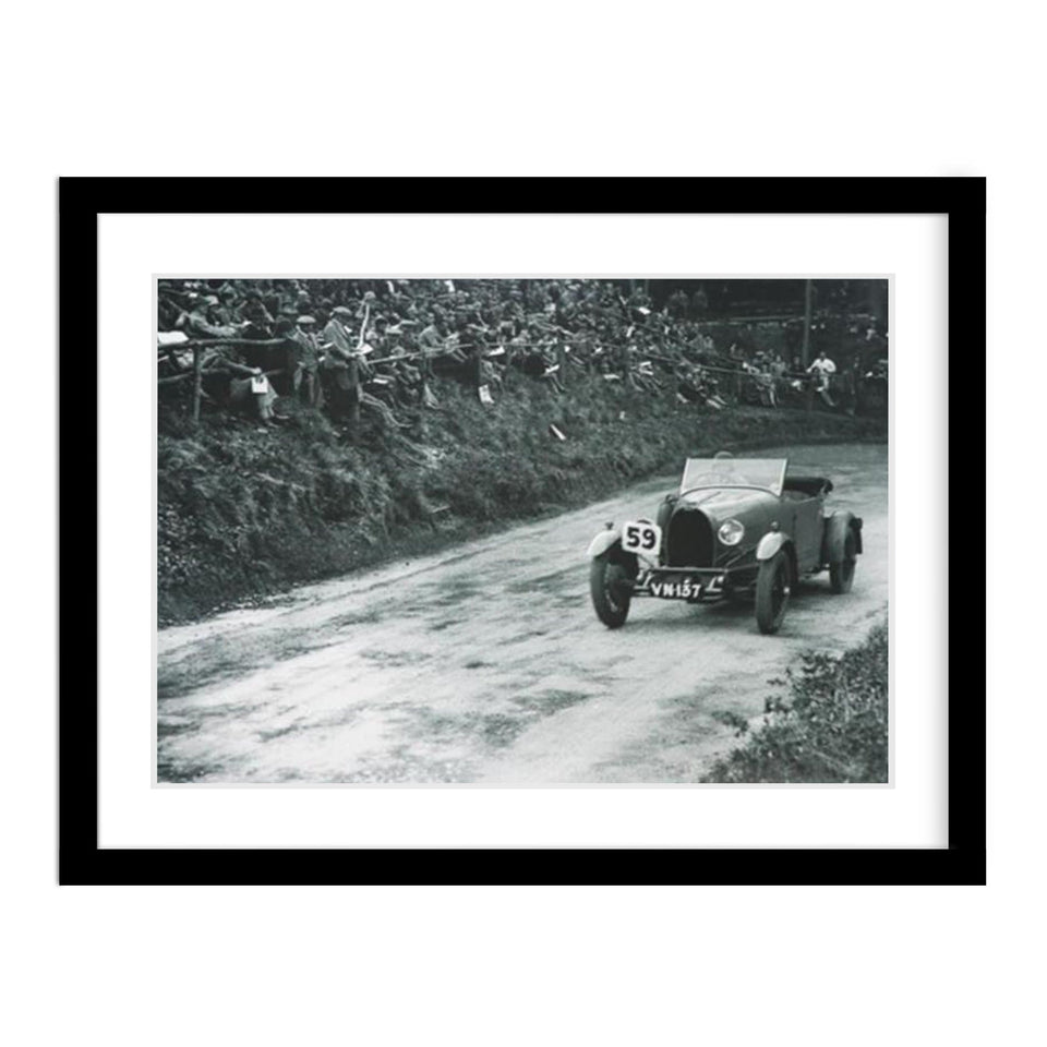Bugatti Type 40 Classic Car Race Vintage Photo Framed