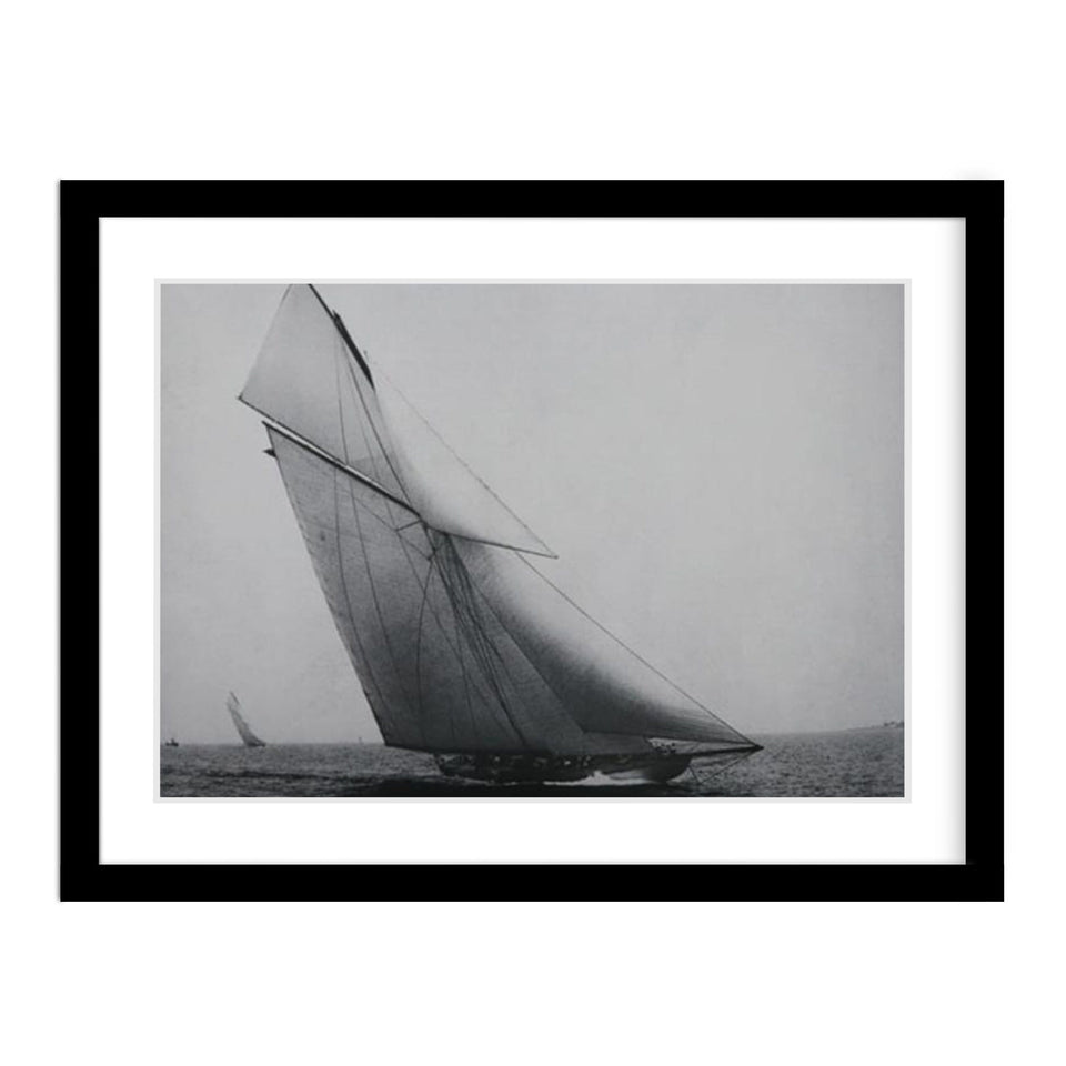 Sailboat Vintage Photo Framed
