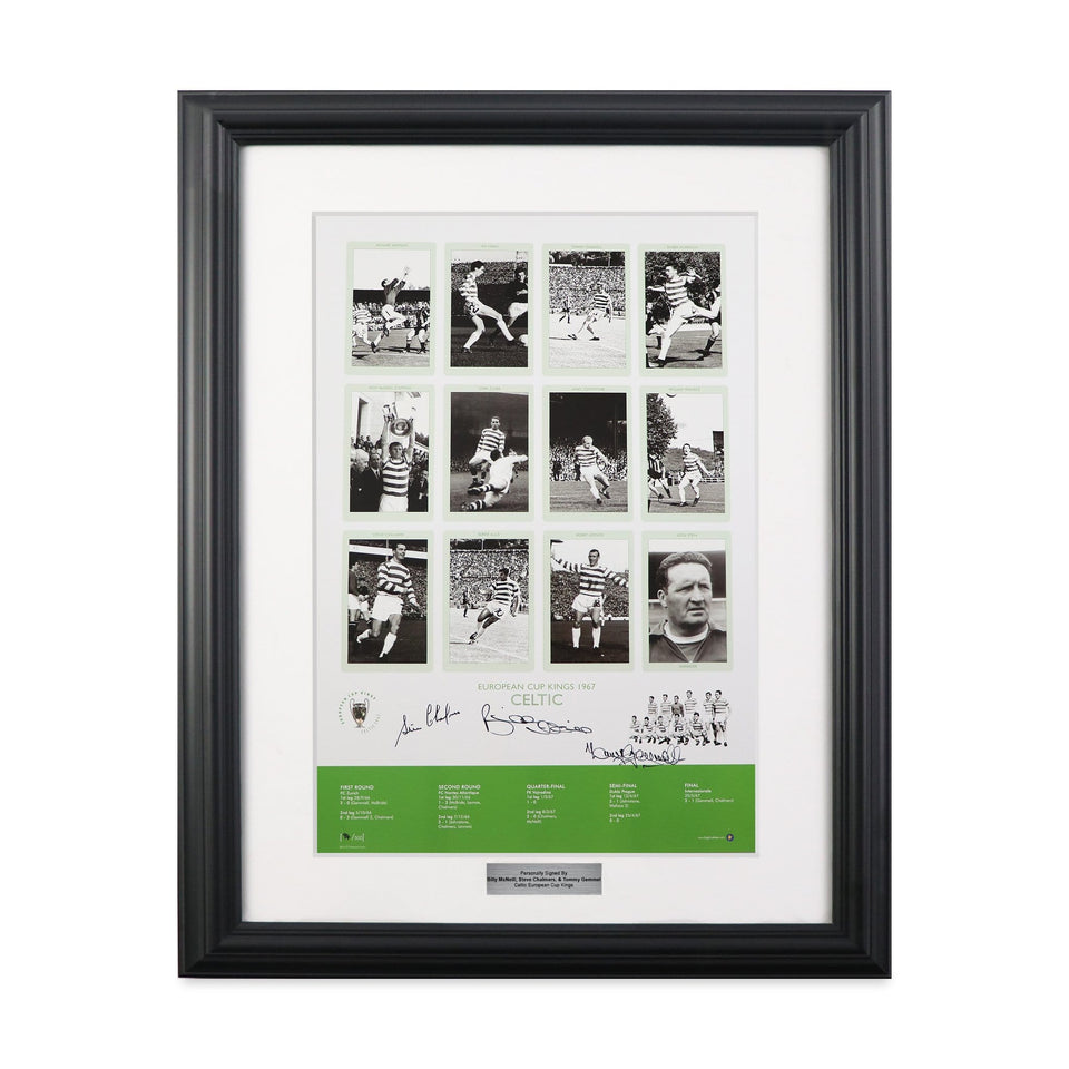 1967 Celtic European Cup Kings Print Signed by McNeill, Chalmers & Gemmel
