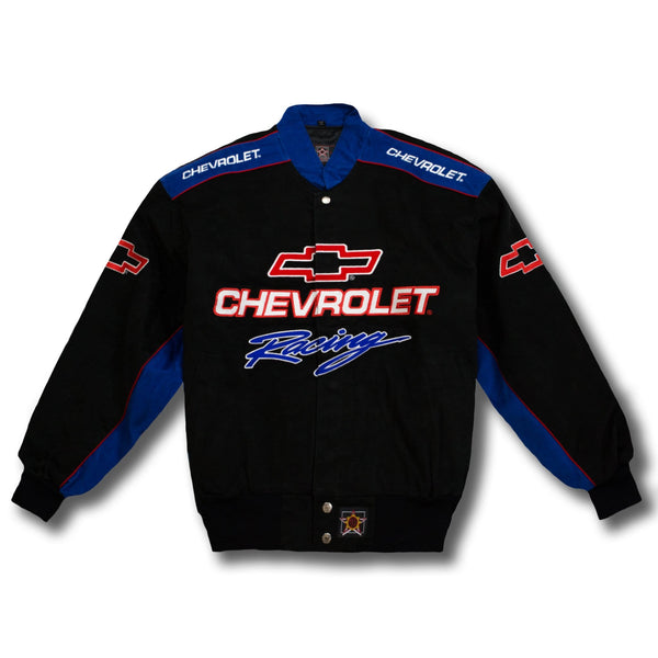 Vintage NASCAR Chevrolet Racing Button-Up Race Jacket