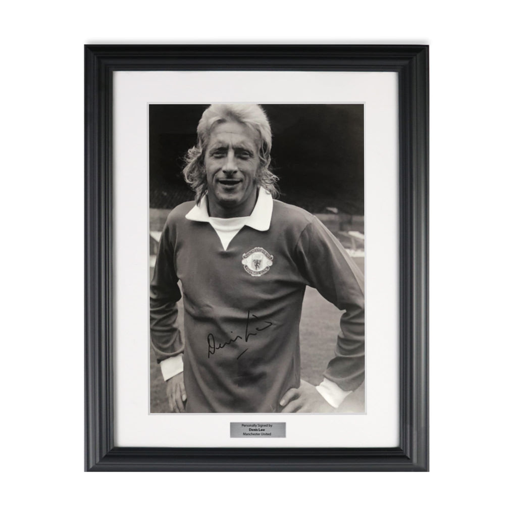 Denis Law Signed Soccer Picture